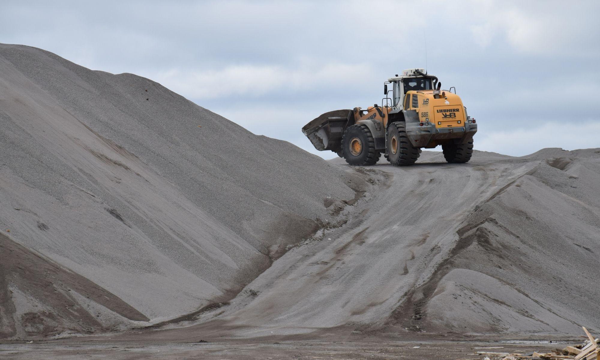 Opslag metaalconcentraat en bodemas mineraal